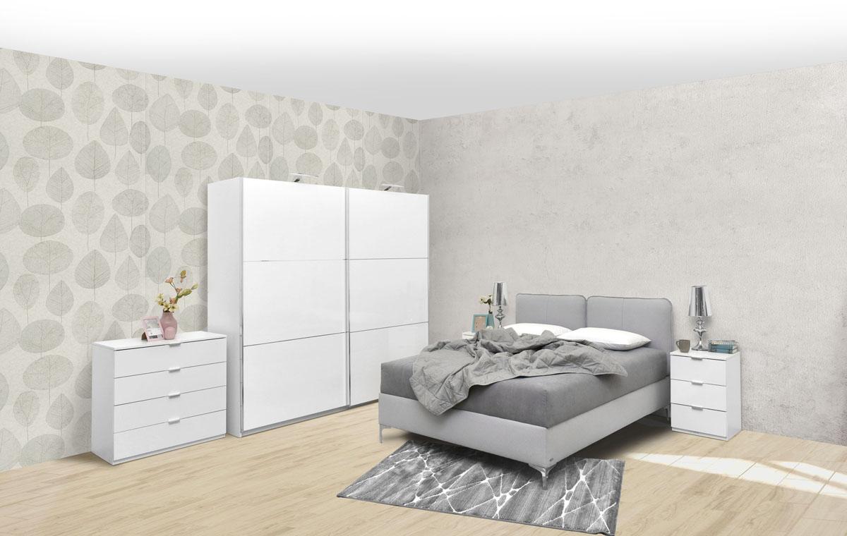 Elegance line AP230-belo sjaj-Elegance lezaj sivo
